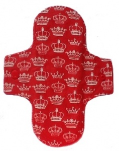 Luna Wolf Design Pad - Crowns on Red