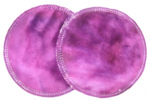3 layer Breast Pads - 1 Pr - Huckleberry Plush Fabric