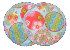 3 layer Breast Pads - 1 Pr  - Baubles Woven Cotton