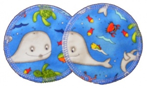 3 layer Breast Pads - 1 Pr  -  Under Water Woven Cotton