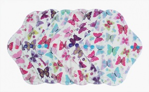 FH - 6 Pack Cotton Tops Summer Butterflies - Heavy Flow INSTOCK