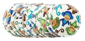 Breast Pads - 6 Pairs for the price of 5 - Funky Monkeys - IN STOCK
