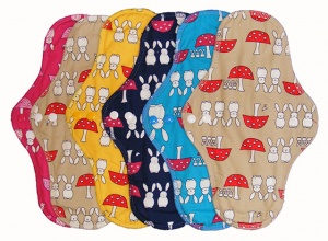 FH - 6 Pack Cotton Tops Bunnies and Toadstools - Extra Long Heavy Flow INSTOCK