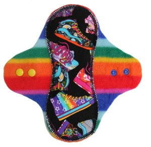 PeaPod - Dancing Shoes with Rainbow Stripe Fleece