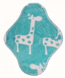 Fairy Hammock - Topaz blue Giraffe Plush Fabric