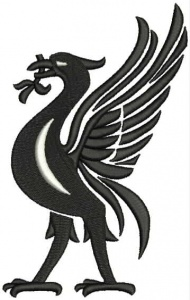 Instant Digital Download - Liverbird L - Machine Embroidery File