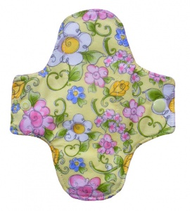 Luna Wolf Design Pad - Flower Frolic Yellow