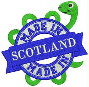 Instant Digital Download - MADE IN SCOTLAND M - Machine Embroidery File