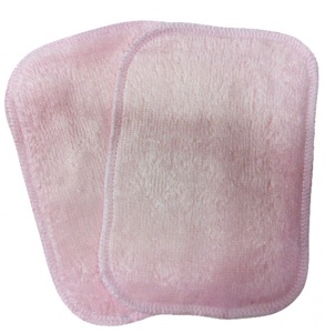 Washable Wipes - 10 All Bamboo Towelling (Baby Pink) INSTOCK