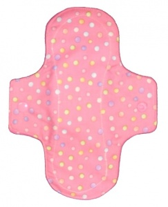 Luna Wolf Design Pad - Pink with Pastel Polka Dots