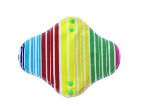 Fairy Hammock - Red Green Yellow Stripe Cotton Jersey