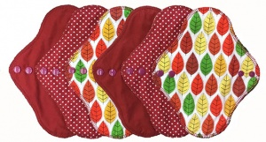 FH - 6 Pack Cotton Tops Autumn Leaves Pack - Light Flow INSTOCK