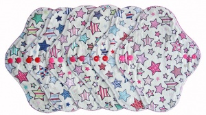 FH - 6 Pack Cotton Tops Stars with Spots and Stripes - Light Flow INSTOCK