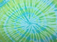 Hand Dyed Cotton Jersey PeaPod - Turquoise and Lime