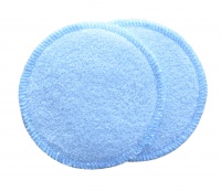 3 layer Breast Pads - 1 Pr  - EXTRA ABSORBENT 2 layers of Bamboo Towelling - Pastel Blue