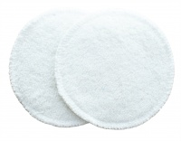 3 layer Breast Pads - 1 Pr  - EXTRA ABSORBENT 2 layers of Bamboo Towelling - Cream
