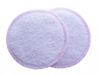 3 layer Breast Pads - 1 Pr  - EXTRA ABSORBENT 2 layers of Bamboo Towelling - Pastel Pink