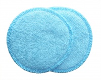 3 layer Breast Pads - 1 Pr  - EXTRA ABSORBENT 2 layers of Bamboo Towelling - Turquoise