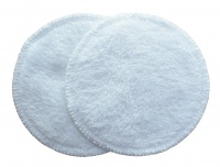 3 layer Breast Pads - 1 Pr  - EXTRA ABSORBENT 2 layers of Bamboo Towelling - White