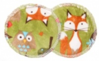 3 layer Breast Pads - 1 Pr - Forest Kiwi Plush Fabric