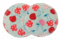 3 layer Breast Pads - 1 Pr - Aqua Sea Plush Fabric