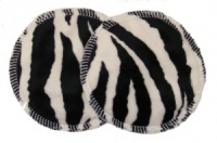 3 layer Breast Pads - 1 Pr - Zebra Plush Fabric