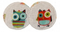 3 layer Breast Pads - 1 Pr - Hooty Snow Plush Fabric