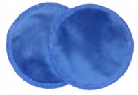 3 layer Breast Pads - 1 Pr - Electric Blue Plush Fabric