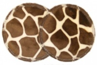 3 layer Breast Pads - 1 Pr - Giraffe Plush Fabric