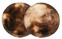 3 layer Breast Pads - 1 Pr - Chocolate Tie Dye Plush Fabric