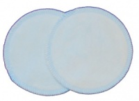 3 layer Breast Pads - 1 Pr  - Baby Blue Cotton Velour