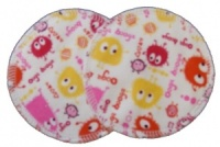 3 layer Breast Pads - 1 Pr  - Ooga Booga Pink and Orange Cotton Jersey