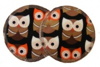 3 layer Breast Pads - 1 Pr  -  HOO HOO HOO R U Woven Cotton