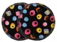 3 layer Breast Pads - 1 Pr  - Allsorts of Sweets Woven Cotton