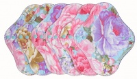 FH - 6 Pack Cotton Tops Big Roses - Light Flow INSTOCK