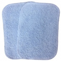 Washable Wipes - 10 Cotton Towelling (Baby Blue) INSTOCK
