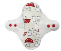 PeaPod - Cream Bunnies on Cream Microfleece