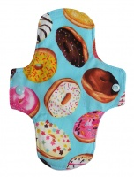 Luna Wolf Design Pad - Doughnuts - Baby Blue microfleece back