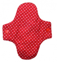 Luna Wolf Design Pad - Red with White Spots Design