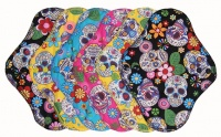 Fairy Hammock - Skulls Multicoloured - Co-ordinating Top and PUL - 6 PACK