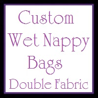 YOU CHOOSE - Wet Nappy/ Swimming Bag (DOUBLE fabric)