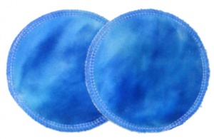 3 layer Breast Pads - 1 Pr - Blueberry Gelato Plush Fabric