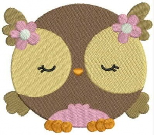 Instant Digital Download - SWEET OWL 4 - Machine Embroidery File