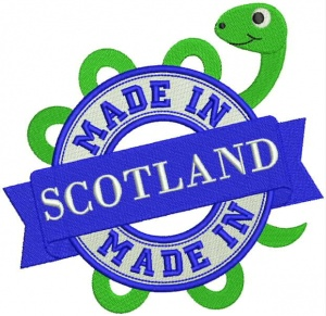 Instant Digital Download - MADE IN SCOTLAND L - Machine Embroidery File
