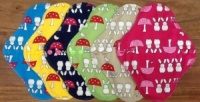 Fairy Hammock - Multicoloured Bunnies and Toadstools co-ordinating Top and PUL - 6 PACK