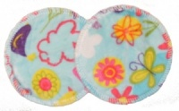 3 layer Breast Pads - 1 Pr - Fly Away Turquoise Plush Fabric